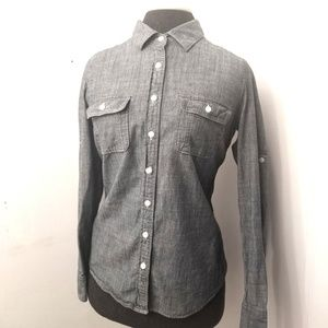 J. Crew The Perfect Shirt Chambray Sm style 32043